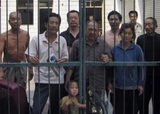 Inmates in a Chinese jail