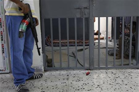 Prison guard in a prison in Libya